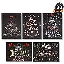 Howaf 36 Piezas Tarjetas de Navidad, Tarjetas de ...