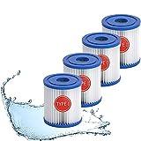 ZMMA Pool-Filterkartuschen für Bestway Typ I, SPA Filter Pump Ersatz kartusche zur Hot Tub Poolreinigung, Hocheffiziente Filterelemente (4 Stück)