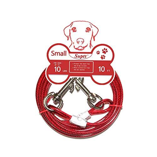Supet Tie-Out Leinen Hofleine für Hunde Haustier Tie Out Cables Hundeleine mit Anti-Winding Metall Haken Hunde Schleppleine Kette für Kleine Mittlere oder Größe Hunde