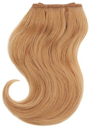 chear Body Wave Extensions capillaires 2 en 1 Extension de Cheveux Humains avec de mélange tissage numéro 27, auburn clair 20 cm