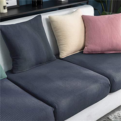 KYJSW Fundas de cojín para asiento de sofá, forro polar de maíz, fundas de cojín para cojines individuales, fundas de cojín de asiento de sofá de repuesto (gris azul, chaise longue)