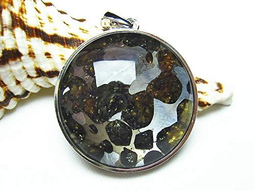 パラサイト隕石 かんらん石 ペンダント 【T453-2477】