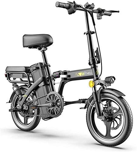 Bici electrica, Bicicleta eléctrica plegable E-Bici plegable ligero 350W 48V, Estructura de aleación de aluminio, pantalla LCD, Modo de tres a caballo, freno de disco for adultos Ciudad de Tráfico