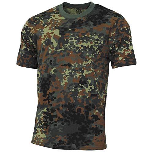 MFH 00130V US Army Herren Tarn T-Shirt Streetstyle (Flecktarn/L)