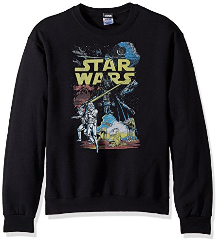 Star Wars Unisex-Adult's Men's Rebel Classic Graphic T-Shirt, Black//Long Sleeve, Medium