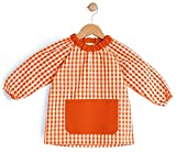 BeBright Bata Escolar Infantil, Baby Escolar Niña y Niño, Babi para Colegio y Guarderías- Fabricado en España (Naranja, 0-12 Meses)