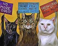 ダイヤモンドペインティングDIY3D猫抗議クロスステッチダイヤモンド刺繡40x50cm