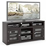Sonax TWB-206-B West Lake TV Stand Component Bench Media Storage Unit in Mocha Black, for ...