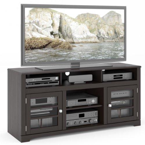 Hot Sale B-602-BWT West Lake 60-Inch Television Bench, Mocha Black