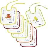 Playshoes 507170 - Pack de 7 baberos con imágenes divertidas, diseño de...