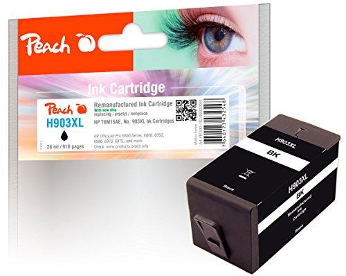 Peach Tintenpatrone schwarz HC kompatibel zu HP No. 903XL, T6M15AE