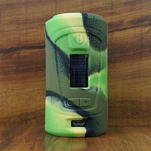 ModShield for Geek Vape GBOX Squonker Box Mod 200W TC Silicone Case ByJojo Cover Shield Wrap Skin (Camo)