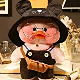 Duck Stuffed Animal Toy,Soft Plush Toy for Kids Girls, Hugglable Plush Stuffed Toy with Cute Hat and Costume, Best Gifts for Birthday 12in/30cm (Pink Black)
