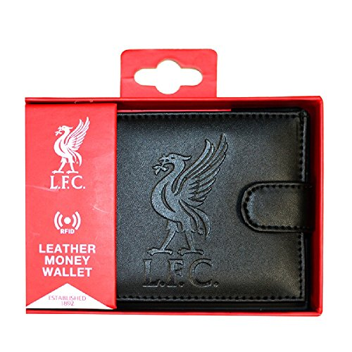 Liverpool FC RFID-Brieftasche aus Leder mit eingeprägtem Vereinswappen