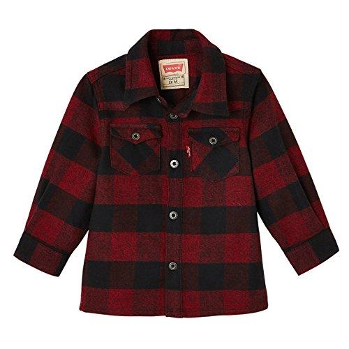 Levi's Kids Levi's Kids Baby-Jungen Shirt NM12034 Bluse, Rot (Bordeaux 39), 1-3 Monate (Herstellergröße: 3M)