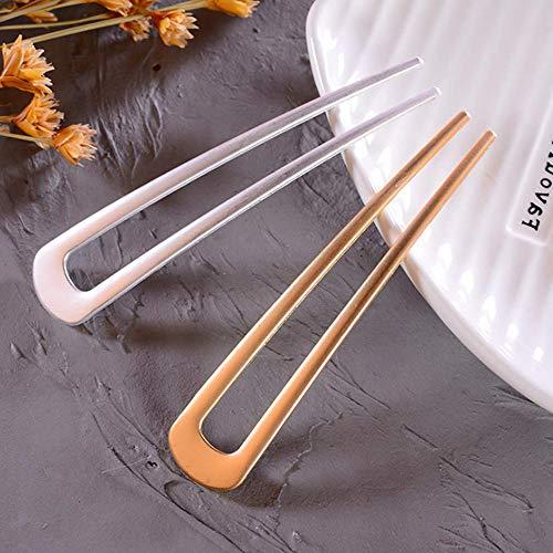 [2 Pack] Benefree U-Shape Hairpins, Bride Hair Accessories Hair Pins Clip...