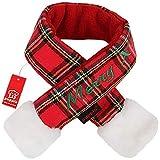 Puppia Weihnachtsmann Schal, Größe XL, kariert, Rot