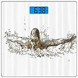 Escala digital de peso corporal de precisión Square Juegos Olímpicos Báscula...