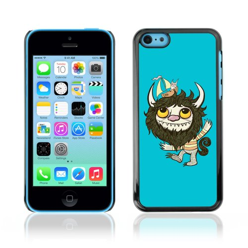 CelebrityCase Polycarbonate Hard Back Case Cover for Apple iPhone 5C ( Cute Monster Blue )
