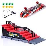 QNFY Mini Finger Skateboard Deck Truck Board mit Rampe Zubehör...