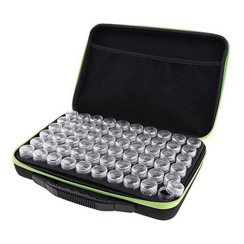 Sharplace Boîtes De Rangement De Bouteilles De Greffes De Fard à Paupières Vides D'ongle De Poudre 60 10ml Mini - vert