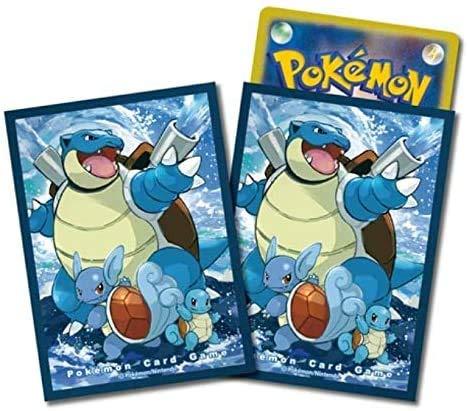Pokemon 64ct Deck Shield Card Sleeves Pokemon Generations Squirtle Wartortle Blastoise image