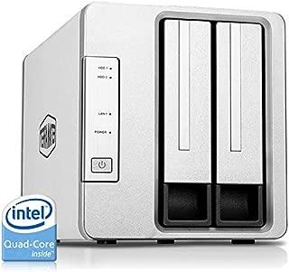 TerraMaster F2-421 NAS 2-Bay Cloud Storage Intel Quad Core 1.5GHz Plex Media Server Network Storage (Diskless)