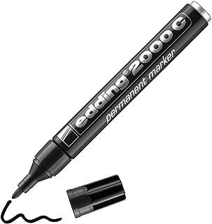edding 2000 C Marqueur permanent - noir - 1 stylo - pointe ronde 1,5-3 mm - sèche vite - résiste à l'eau et à l'essuyage -...