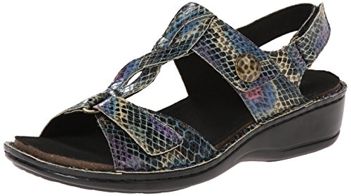 Aravon Women's Collette AR Dress Sandal,Multi Print,5 D US