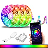 BRTLX Smart Led Strip Lights,WiFi Wireless Smart Phone APP Controlled, 5050 Waterproof IP65,RGBW Color Ambiance Dimmable Light,Compatible with Alexa, Android/iOS,Google Assistant,29.55ft (3 x 9.85ft)