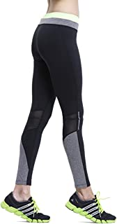 Truity Women's Mesh Soft Breathable Leggings Stretchy Reflective Workout Yoga Pants