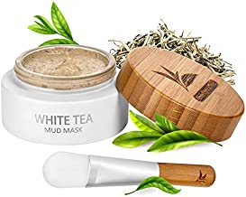 White Tea Mud Mask - 100 ml, Antioxidant Facial Treatment, Smoothes Fine Lines, Wrinkles, Deep Cleanse, Detoxifies Face, Removes Dark Spots, Skin Pigmentation, Blackheads, Pore Minimizer, Anti Aging