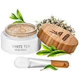 White Tea Face Mud Mask - 100 ml, Antioxidant Clay Facial Treatment, Smoothes Fine Lines, Wrinkles, Deep Cleanse & Detoxifies, Moisturizes Skin, Blackheads Remover, Pore Minimizer, For a Younger Look