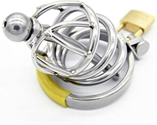 ZBZYXA Men's Stainless Steel Metal Chastity Lock Penis Lock Instead of Toys Health and Safety T-Shirt Trousers