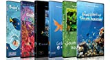 6 Disc Set Aquarium DVD Combo Pack - Calming Scenes of Various Aquariums and Underwater Videos of Tropical Fishes, Corals and Sea Creatures