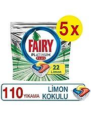 Fairy Platinum Plus 110 Yıkama Bulaşık Makinesi Deterjanı Kapsülü, 22 x 5