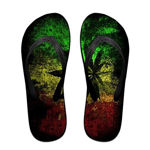 Iop 90p Jamaika-Flaggen-Blätter drehen Reinfall-Pantoffel-Strand-Sandelholz-Pool-Schuhe um