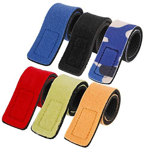 Gitua 6 Stück Angelruten Bänder, Einstellbar Magic Bait Casting Spinning Rutenbänder Klettband für Outdoor-Angeln