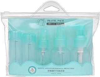 5Pcs Empty Spray Bottles Portable Travel Makeup Cream Bottles Cosmetics Bottles Refillable Plastic Makeup Bottles Green
