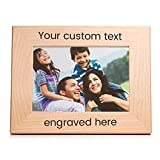 Create Your Own Personalized Picture Frame: Engraved Custom Picture Frame (5' x 7' Landscape)