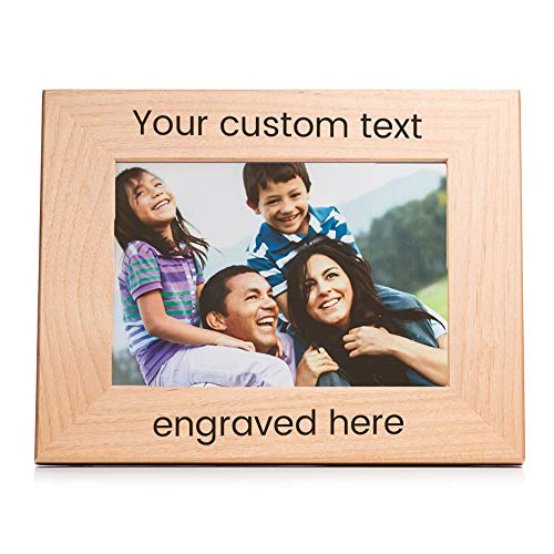 """Lifetime Creations Create Your Own Personalized Picture Frame: Engraved Custom Picture Frame (5"""" x 7"""" Landscape)"""