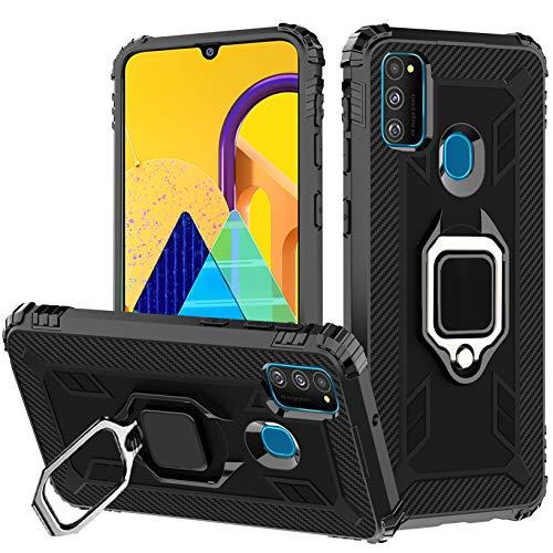 Funda Samsung Galaxy M30s / M21,Fundas 360° Full Body Protección Shock-Absorción Protección Silicona Gel TPU con Anti-Arañazos Soporte Suave Carcasa Cover para Samsung Galaxy M30s / M21, Negro