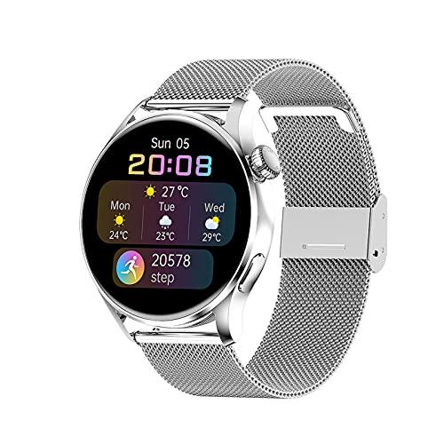QASD SmartWatch, 1.3 Pulgadas Bluetooth Pago de Llamadas Pantalla táctil Completa Reloj de Negocios Ratón cardíaco Detección de la presión Arterial Pulsera Deportiva F