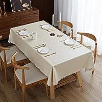 長方形のテーブルクロス防水テーブルクロス断熱材3次元エンボスワイプ可能なウォッシャブルテーブルクロスダイニングキッチンパーティーテーブルカバーシルバー