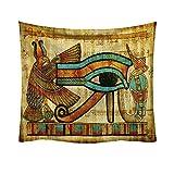 Sannysis Tapisserie Wandbehang Strandtuch Alten Ägypten Ägyptische Boot Hippie Mandala Bohemian...