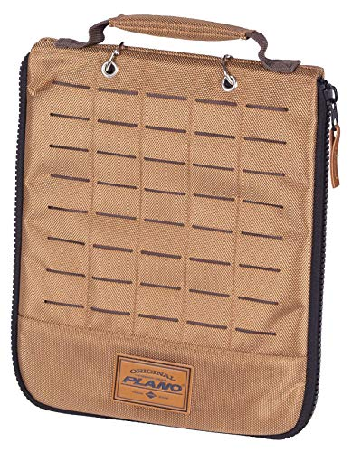 Plano Guide Series Worm Wrap   Premium Tackle Storage for Soft Plastics, Khaki with Brown/Black Trim (PLABG100), One Size