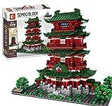 CYGG 1805pcs Street View Tengwang Pavilion Bricks Model Set, DIY Bloque de construcción Conjunto de Arquitectura Pequeño partículas de construcción Colección de decoración