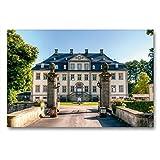 CALVENDO Premium Textil-Leinwand 90 x 60 cm Quer-Format Schloss Körtlinghausen, Leinwanddruck von Hans-Joachim LOH