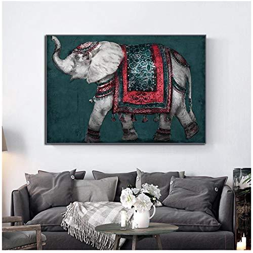 un known Poster Bilder Nordic Elephant Print Tier Abstrakte Street Art Poster Dekoratives Bild für Wand Kinderzimmer Dekor 7.8x11.8in (20x30cm) x1psc No Frame