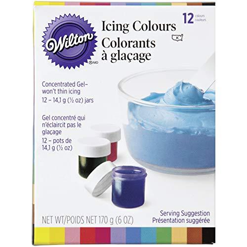 12 Colour Gel Set, 14.1g (1/2oz) jars